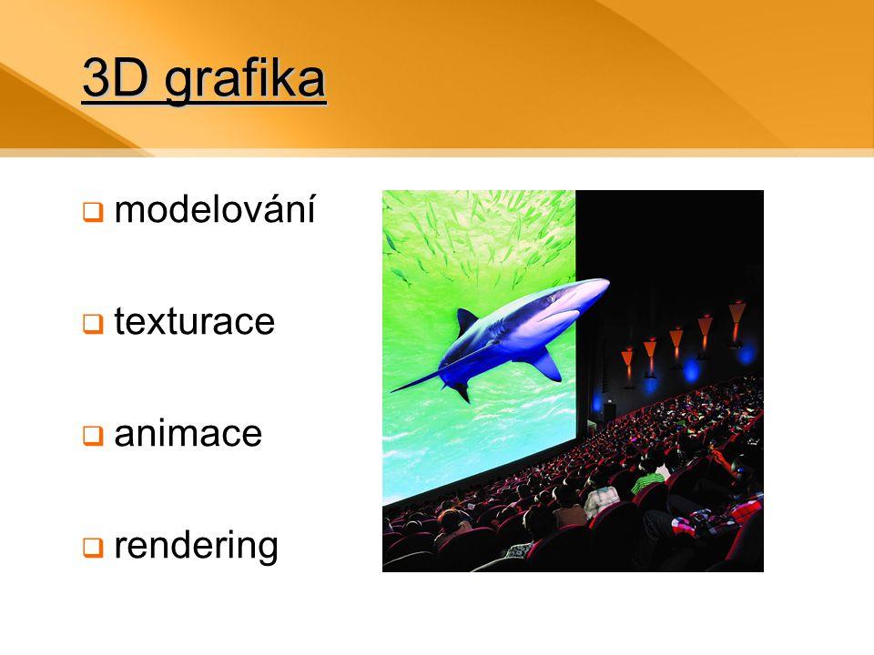 3D grafika modelování texturace animace rendering