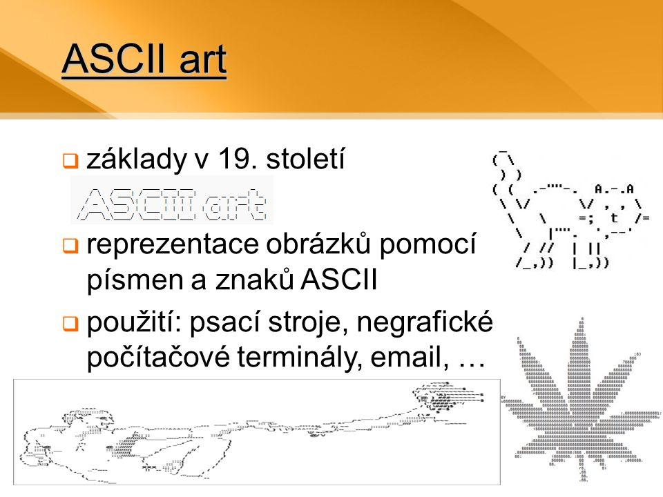 ASCII art základy v 19. století