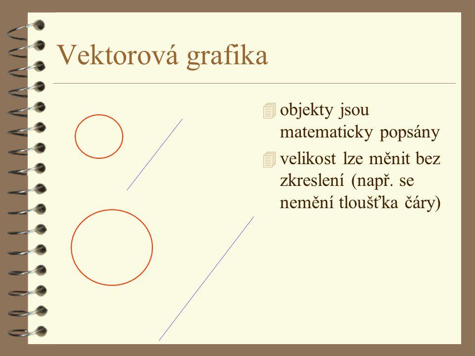 Vektorová grafika objekty jsou matematicky popsány