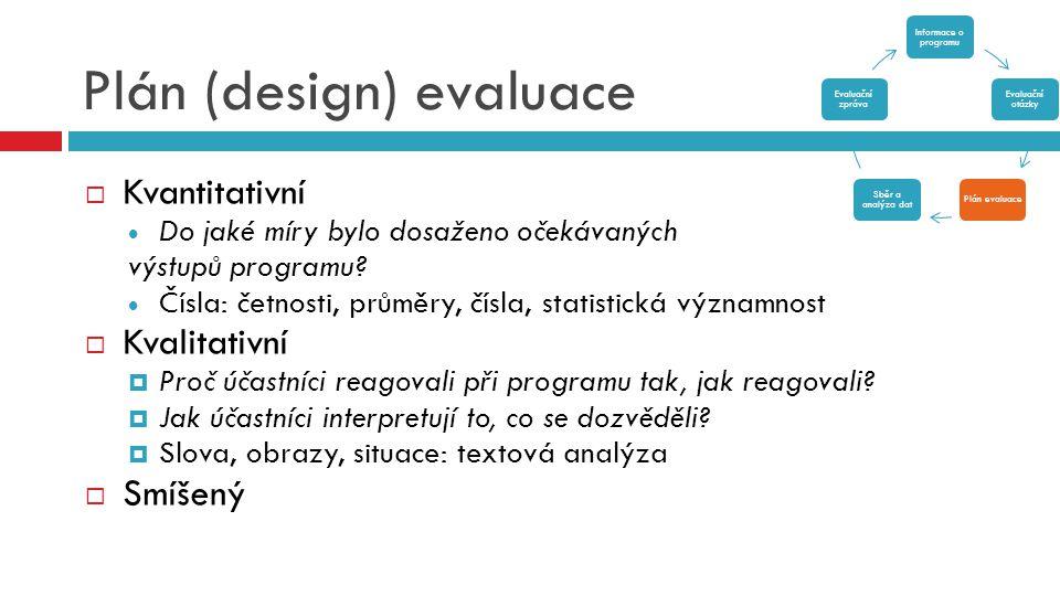 Plán (design) evaluace