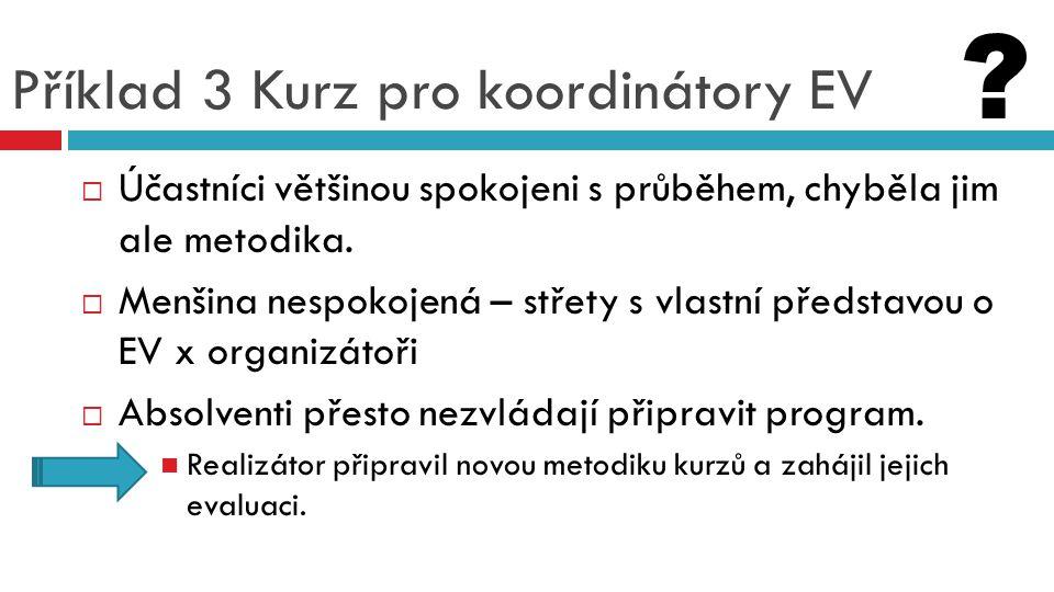 Příklad 3 Kurz pro koordinátory EV