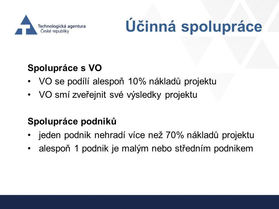 Účinná spolupráce Spolupráce s VO