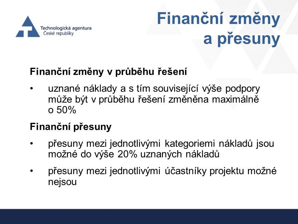 Finanční změny a přesuny