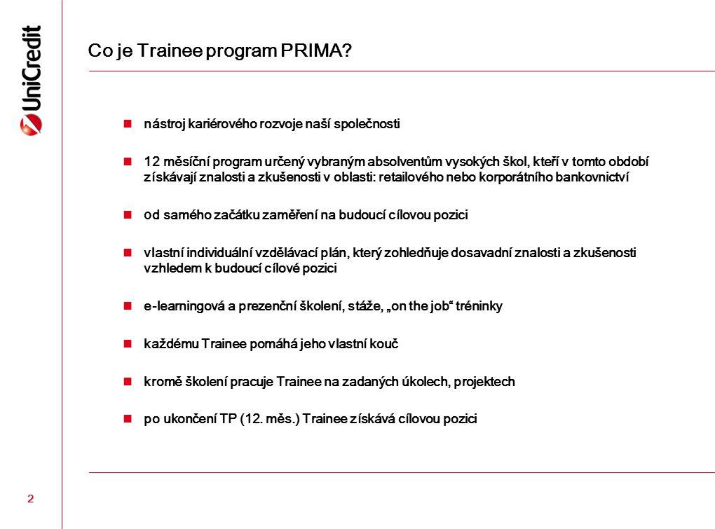 Co je Trainee program PRIMA