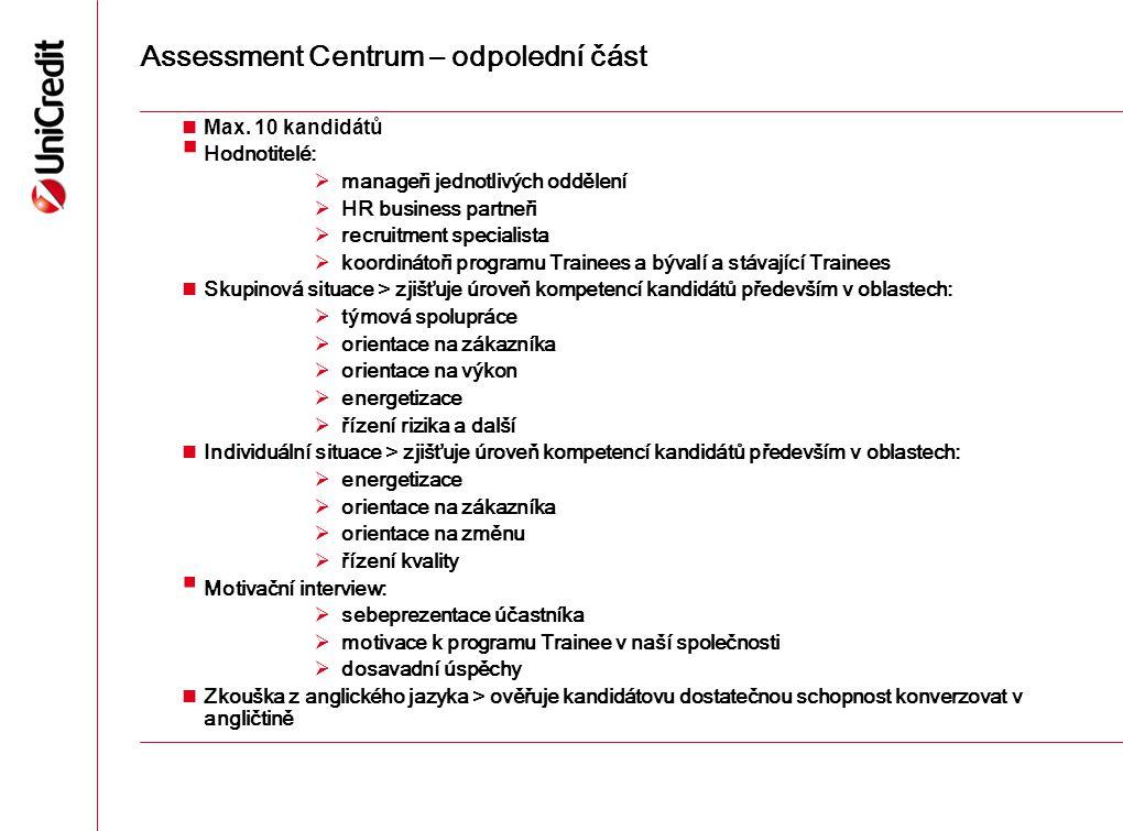 Assessment Centrum – odpolední část