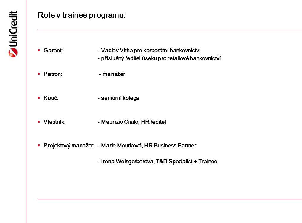 Role v trainee programu:
