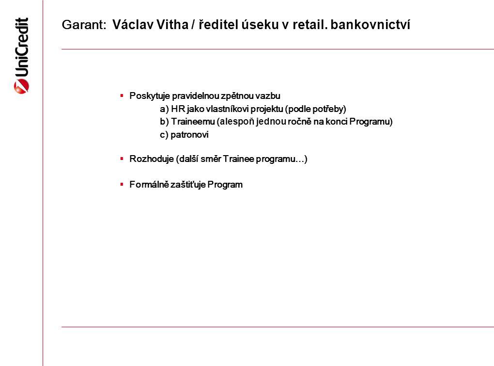 Garant: Václav Vitha / ředitel úseku v retail. bankovnictví