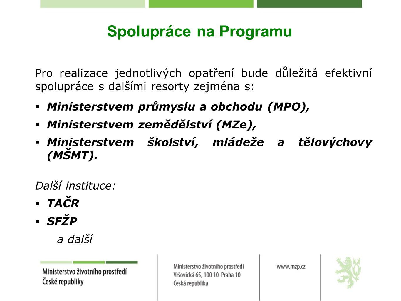 Spolupráce na Programu