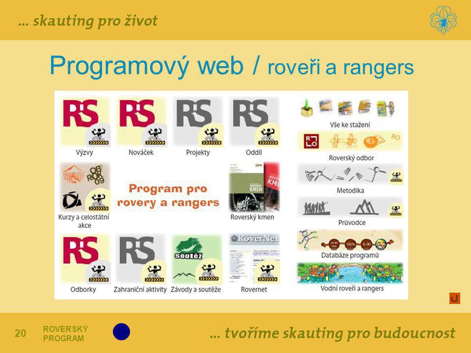 Programový web / roveři a rangers