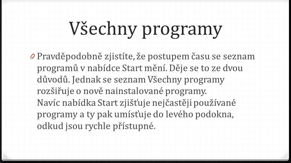 Všechny programy