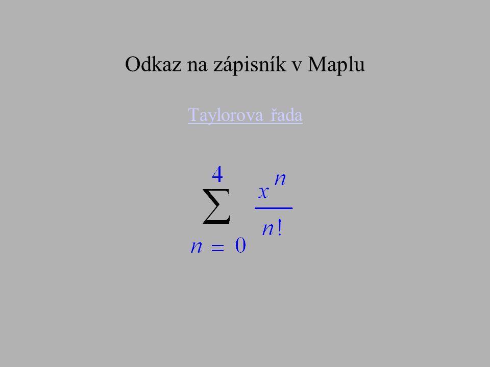 Odkaz na zápisník v Maplu