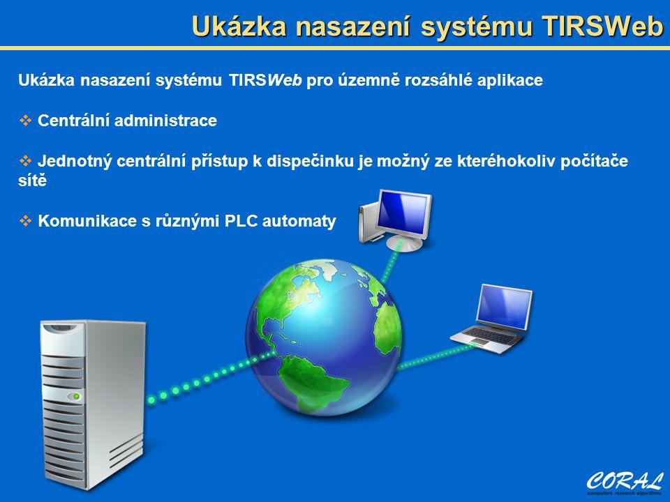 Ukázka nasazení systému TIRSWeb