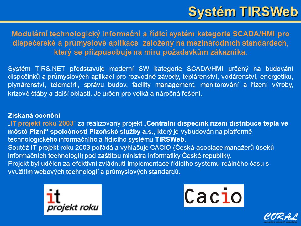 Systém TIRSWeb