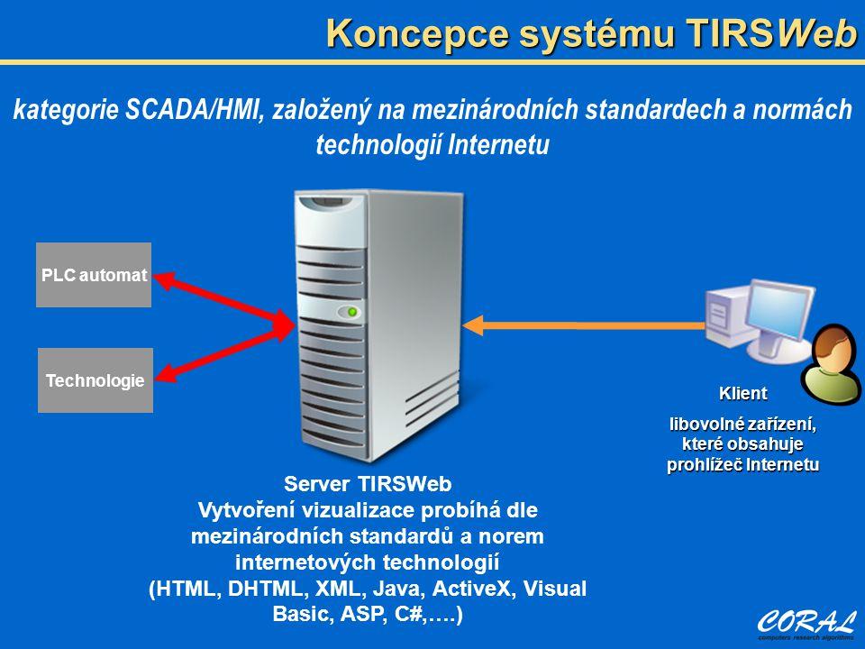 Koncepce systému TIRSWeb
