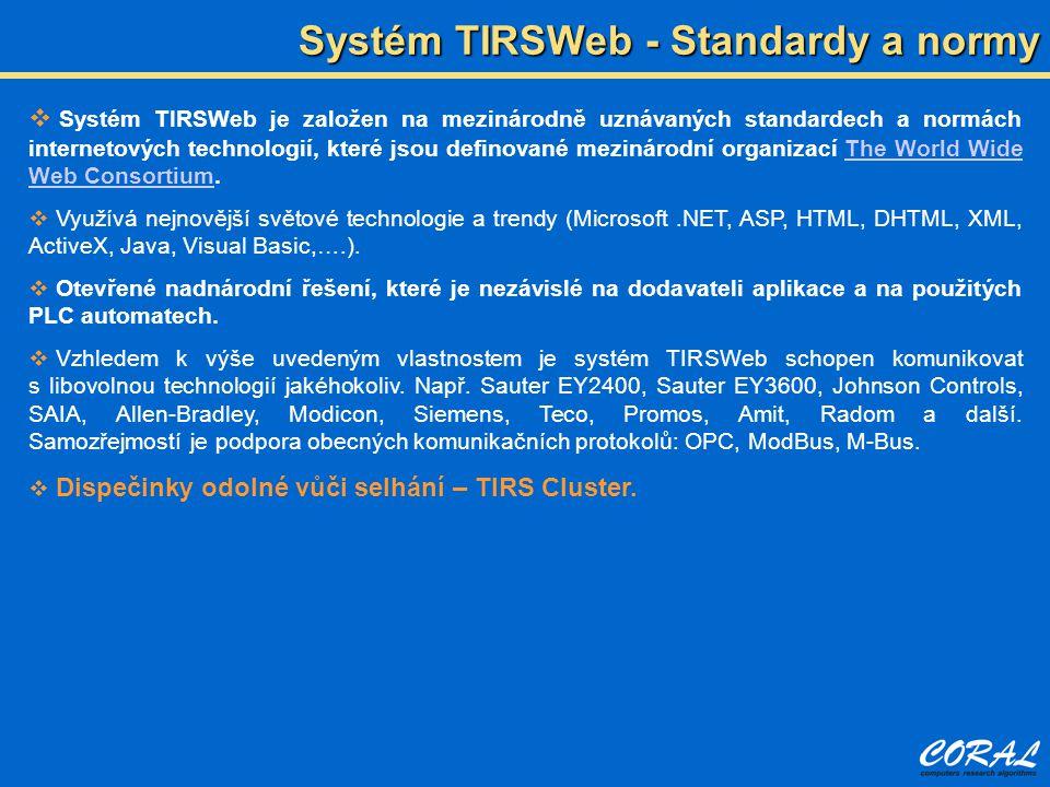 Systém TIRSWeb - Standardy a normy