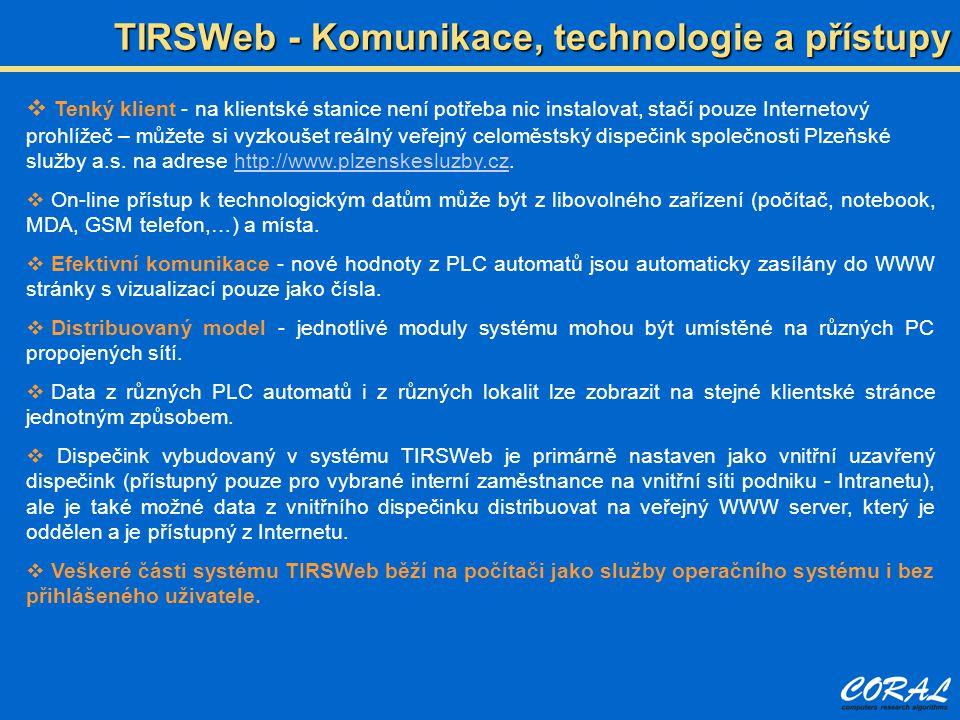 TIRSWeb - Komunikace, technologie a přístupy