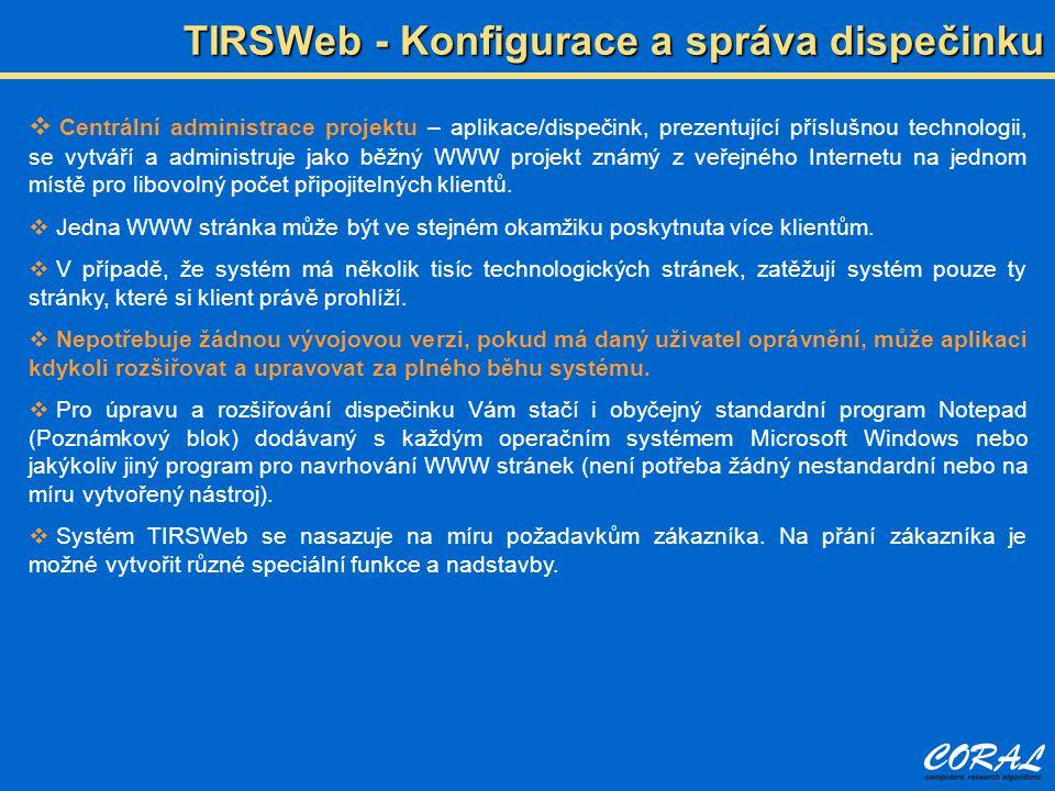 TIRSWeb - Konfigurace a správa dispečinku
