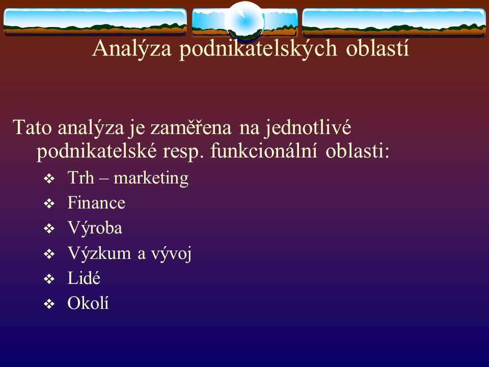 Analýza podnikatelských oblastí