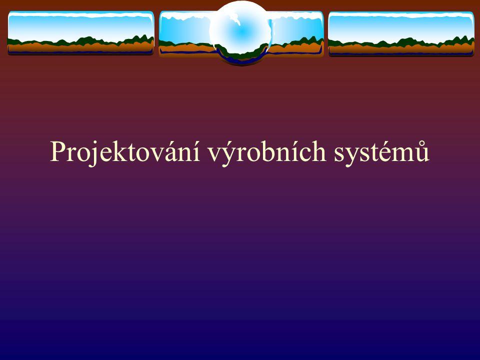 Projektování výrobních systémů