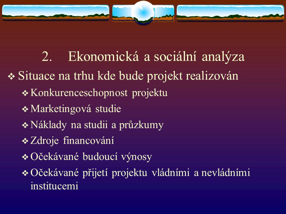 Ekonomická a sociální analýza