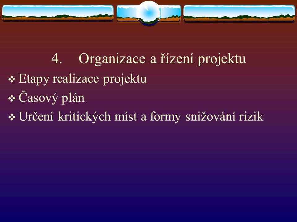 Organizace a řízení projektu
