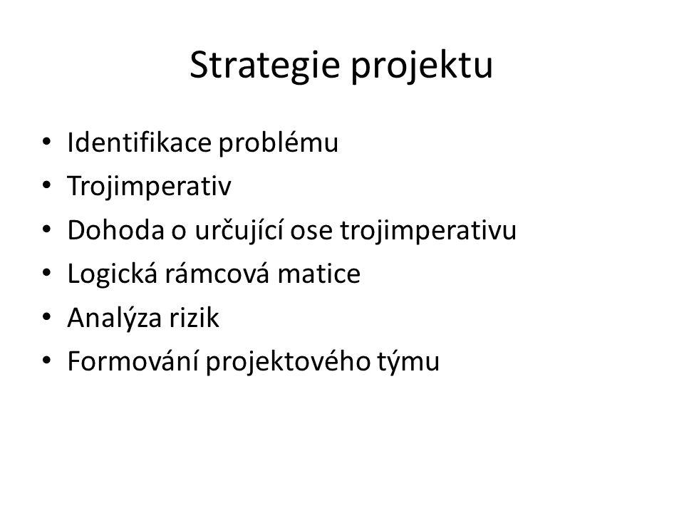 Strategie projektu Identifikace problému Trojimperativ