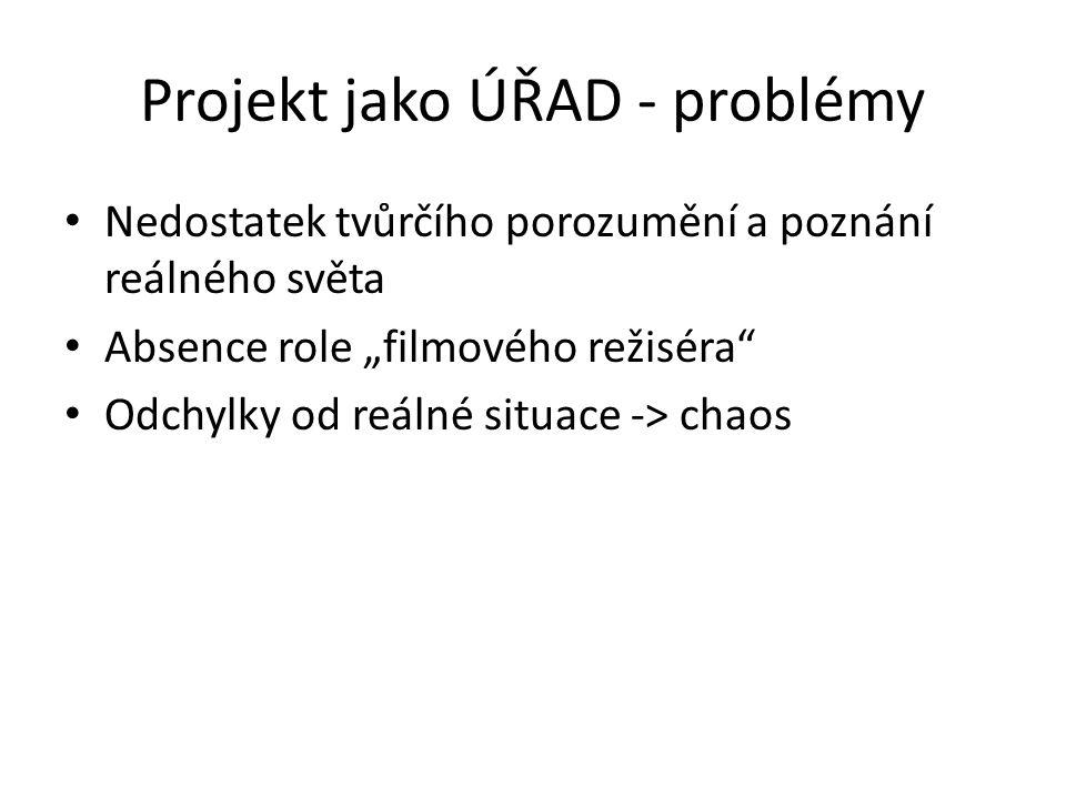 Projekt jako ÚŘAD - problémy