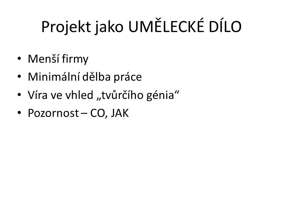 Projekt jako UMĚLECKÉ DÍLO