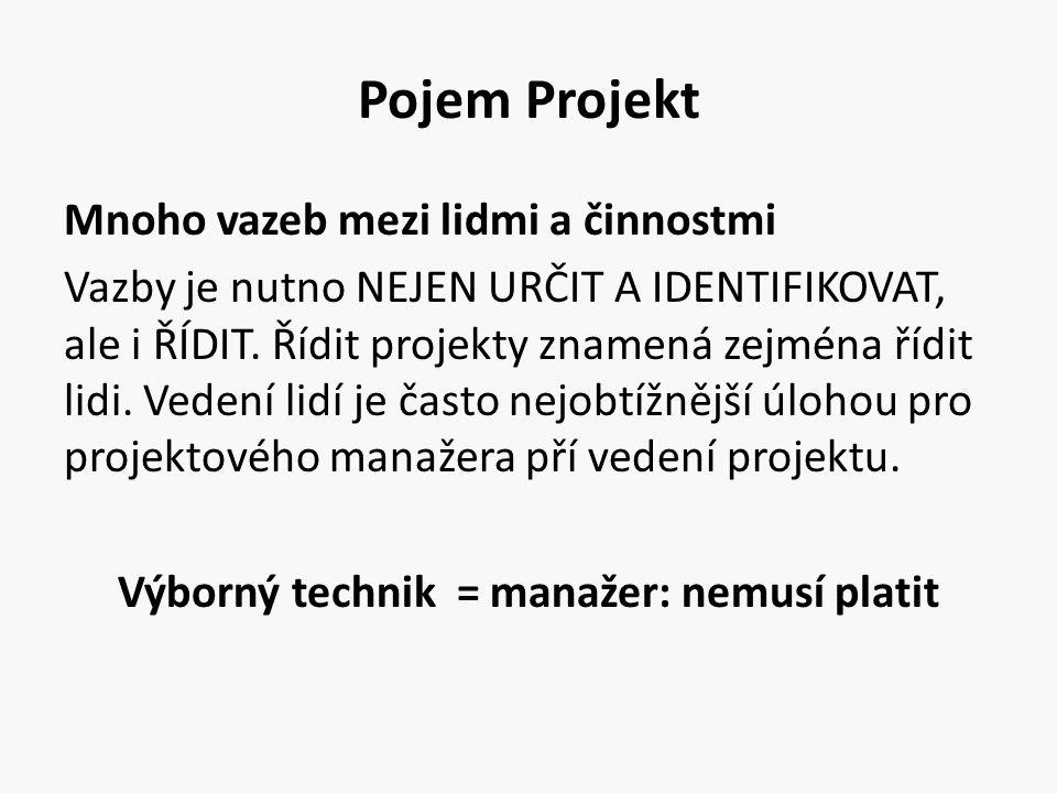 Pojem Projekt