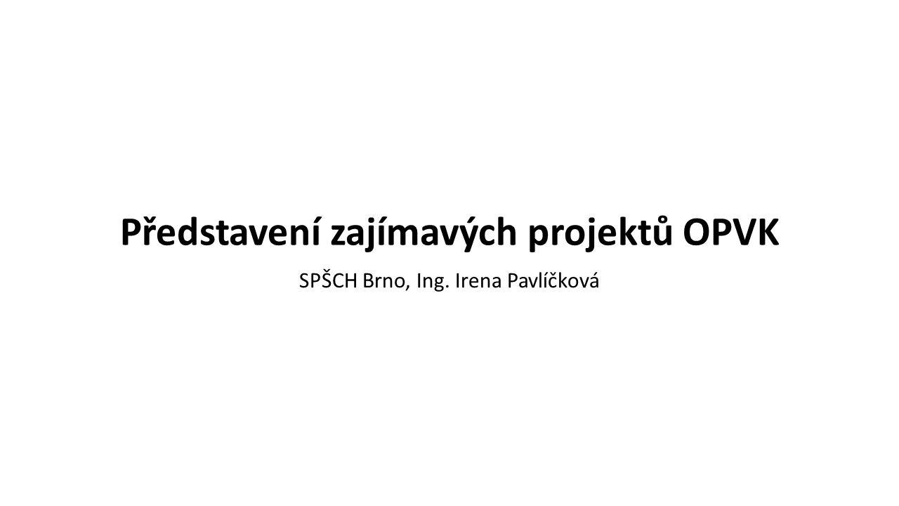 Představení zajímavých projektů OPVK