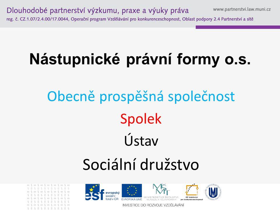 Nástupnické právní formy o.s.