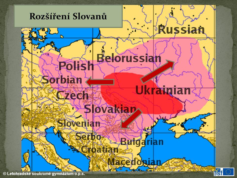 Rozšíření Slovanů