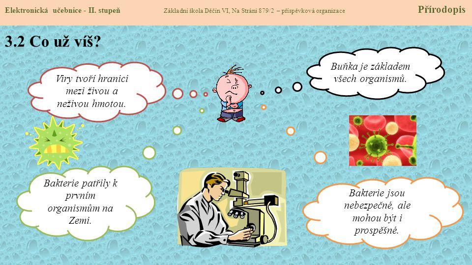 3.2 Co už víš Buňka je základem všech organismů.
