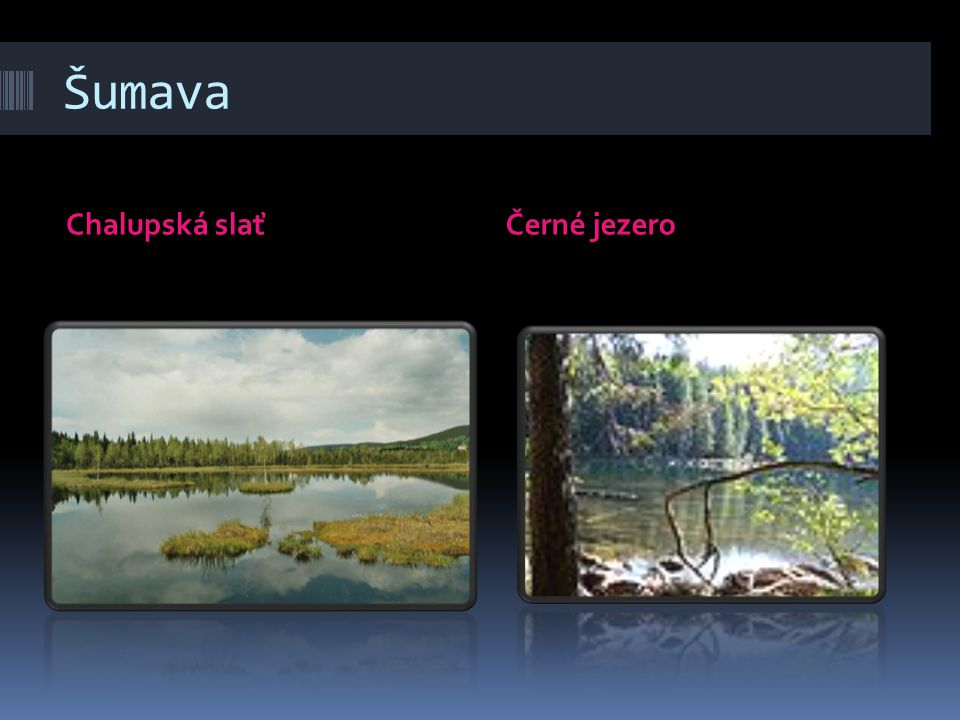 Šumava Chalupská slať Černé jezero