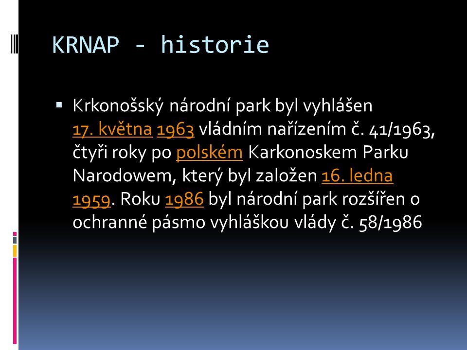 KRNAP - historie