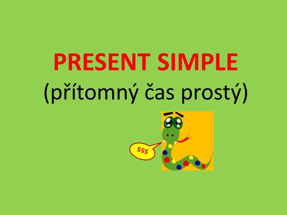 PRESENT SIMPLE (přítomný čas prostý)