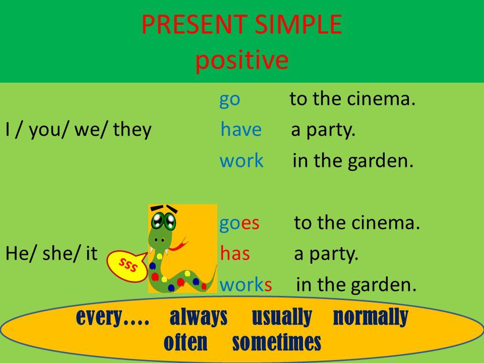 PRESENT SIMPLE positive
