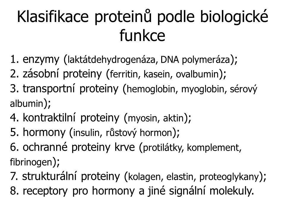 Klasifikace proteinů podle biologické funkce