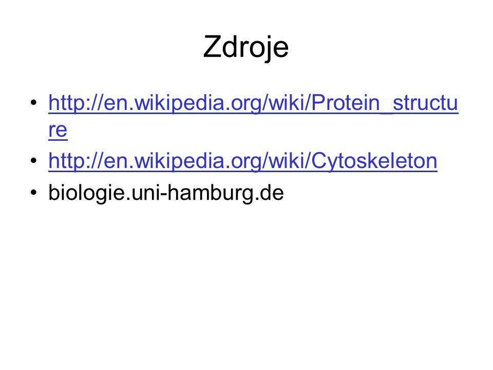 Zdroje http://en.wikipedia.org/wiki/Protein_structure