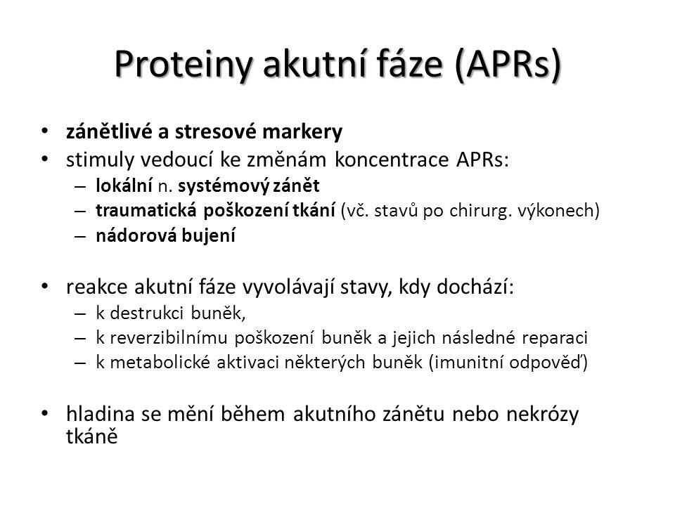 Proteiny akutní fáze (APRs)