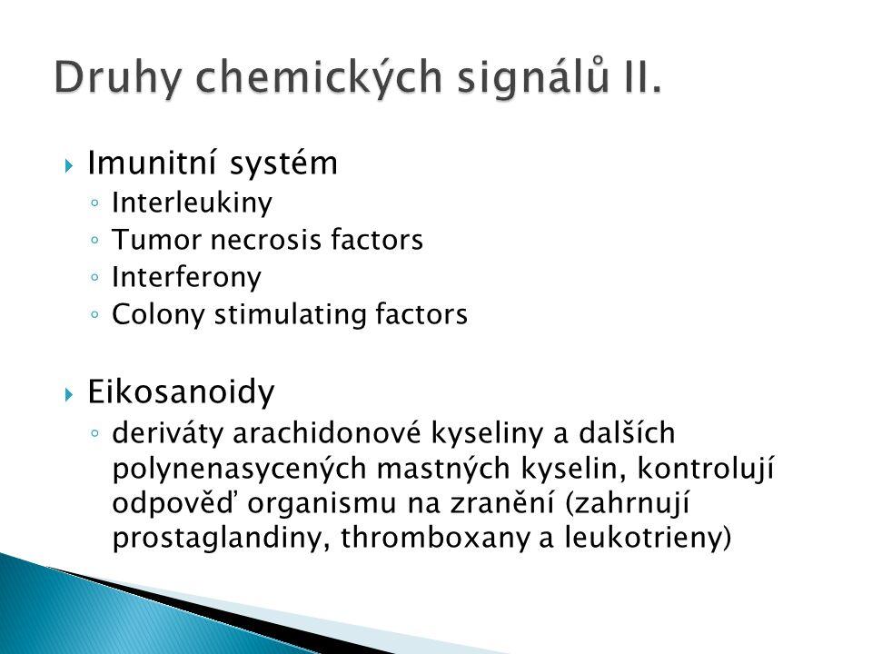 Druhy chemických signálů II.