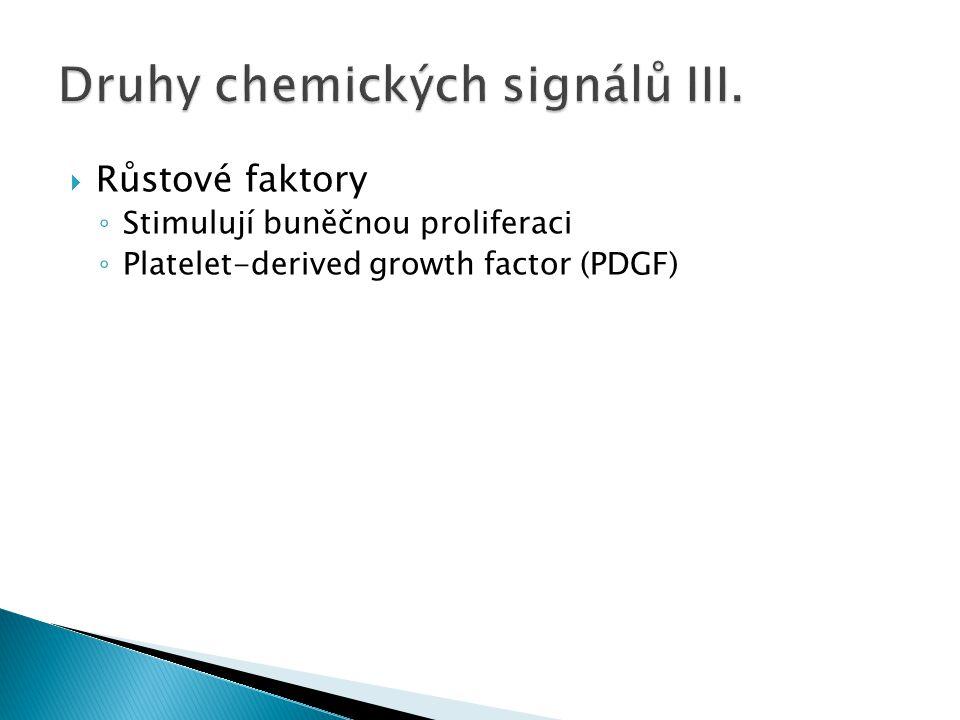 Druhy chemických signálů III.
