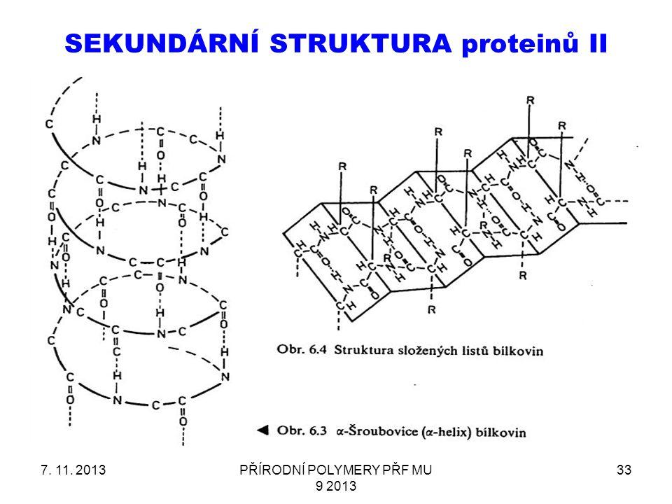 SEKUNDÁRNÍ STRUKTURA proteinů II