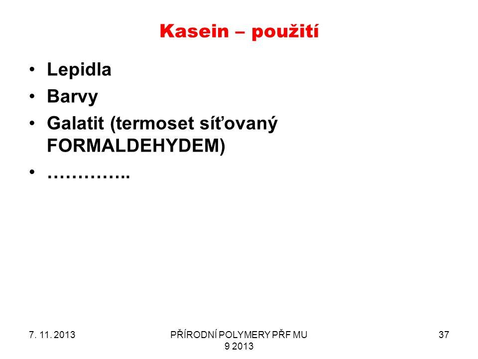 PŘÍRODNÍ POLYMERY PŘF MU 9 2013