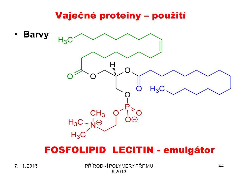 Vaječné proteiny – použití