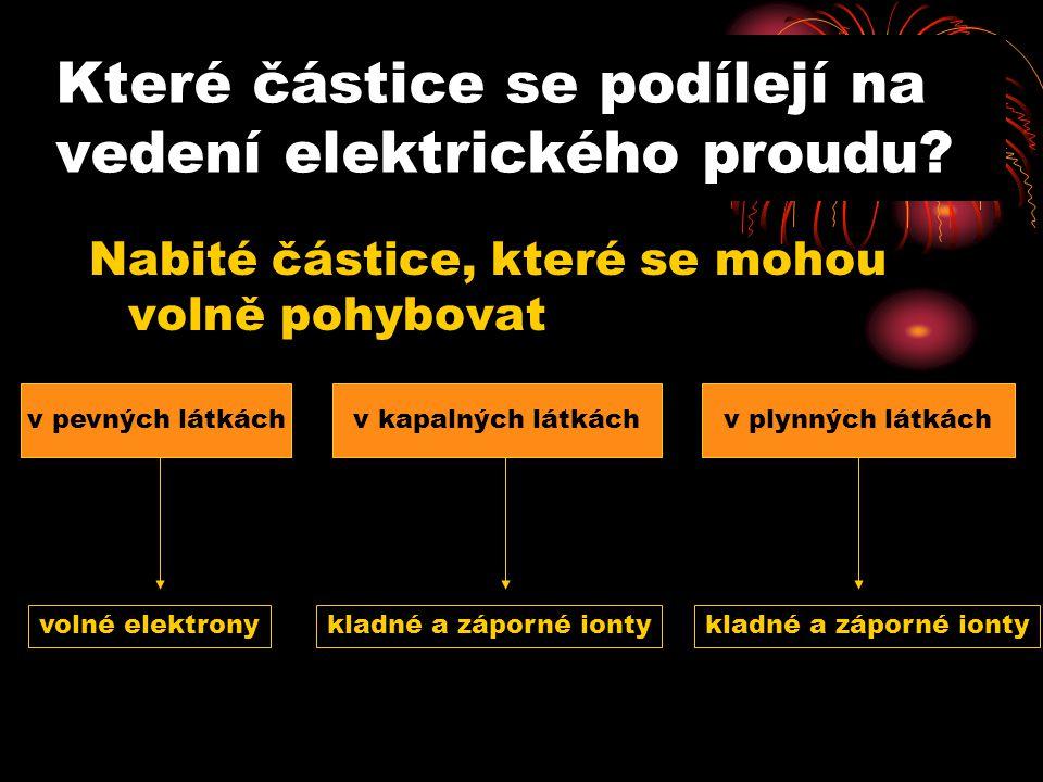 Které částice se podílejí na vedení elektrického proudu