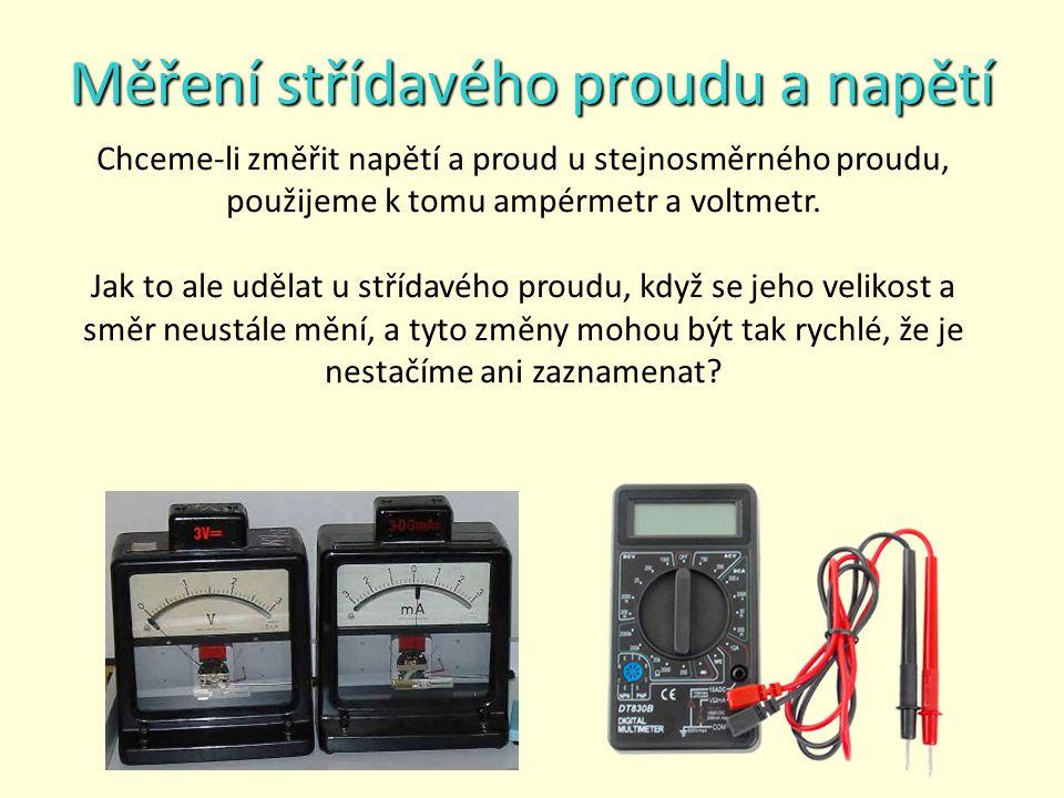 Měření střídavého proudu a napětí