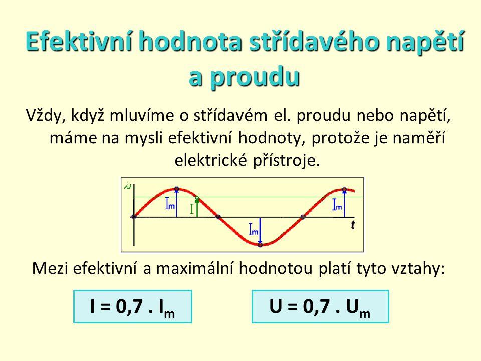Efektivní hodnota střídavého napětí a proudu