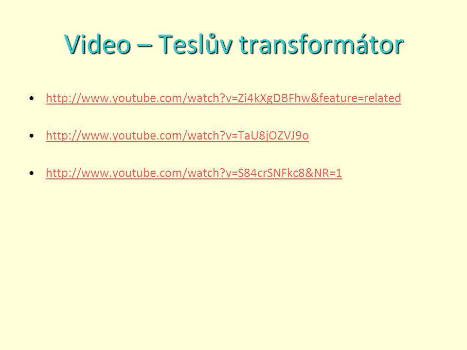 Video – Teslův transformátor