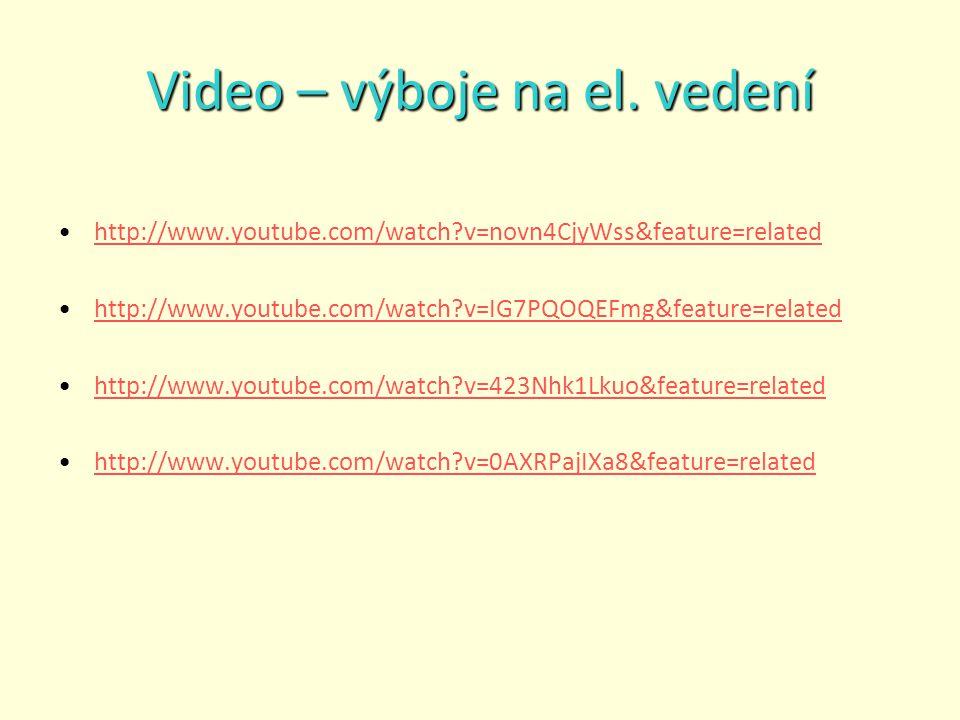 Video – výboje na el. vedení
